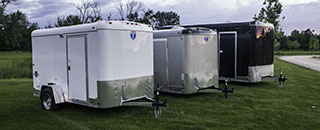 We manufacture a variety of enclosed cargo trailers. From 4 feet to 8.5 feet wide.