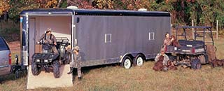 Interstate ATV trailers are built for easier towing in rough country.